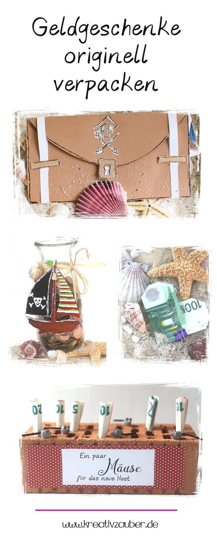 Geldgeschenke Originell Verpacken Basteln Mit Kindern Gifts
