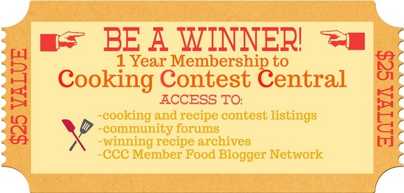 Cooking Contest Central Membership Giveaway!  @Cooking Contest Central