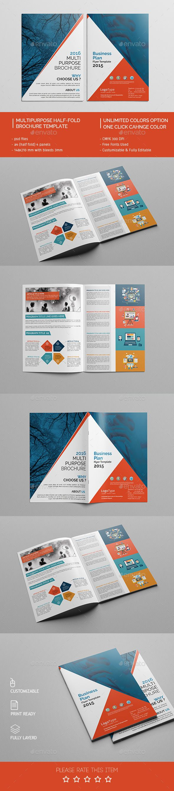 Corporate Bi-fold Brochure Template PSD #design Download: http://graphicriver.net/item/corporate-bifold-brochure-template-06/14145241?ref=ksioks
