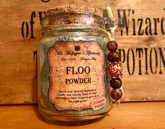 Floo Powder Harry Potter Inspired Glass Jar Potion Party Etsy In 2020 Glass Jars Harry Potter Diy Potter