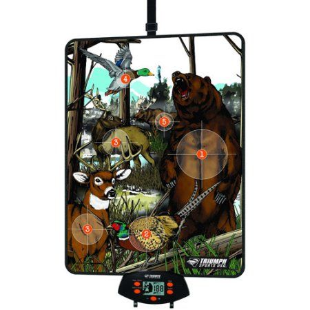 Large Mat Over-The-Door Bow Hunting 1-Sided Game, Multicolor