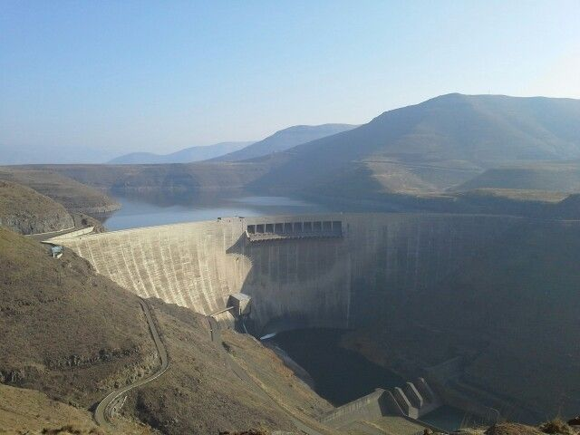 Katse Dam. Lesotho . Hydro-electric scheme. Dam wall is 183m heigh and 710m long.