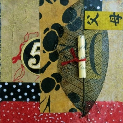 Series - Send Me A Note - 4x4 inch collage   Trudi Sissons