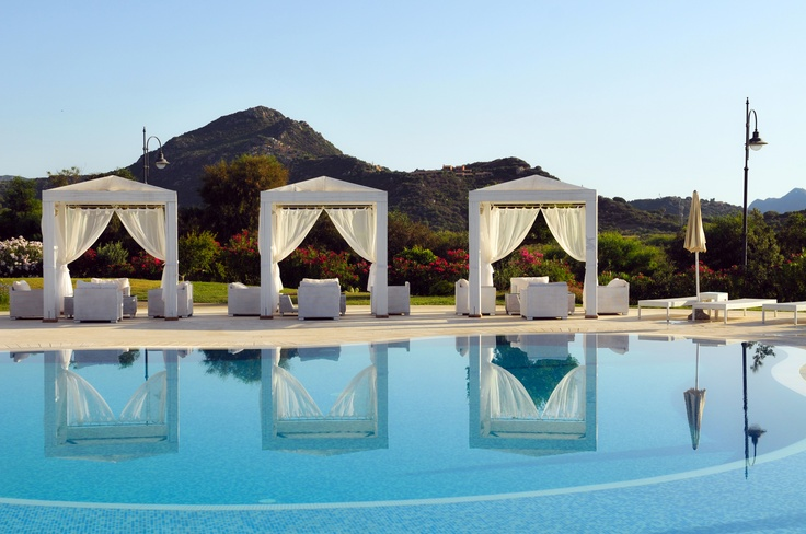 The pool at Hotel Villas Resort, Sardinia