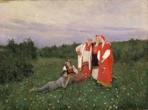 Korovin, Konstantin Alekseyevich  Northern idyll 1892