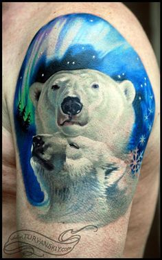 Polar Bear Tattoo https://www.pinterest.com/joysavor/polar-bears/