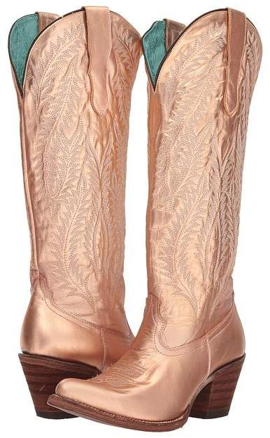 dd50df600f8 Corral Boots E1380. Look how beautiful! Copper or rose gold  Love the shade  of these cowboy boots. This pin contains an affiliate link.