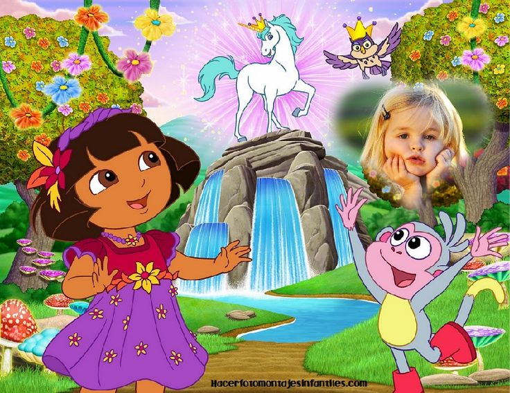 Hacer fotomontaje de Dora la exploradora
