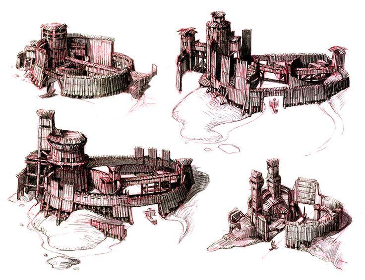 Designs for Eret's fort. #httyd2
