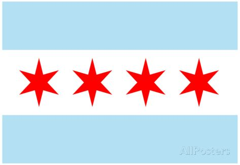 Chicago City Flag Poster Print Poster at AllPosters.com