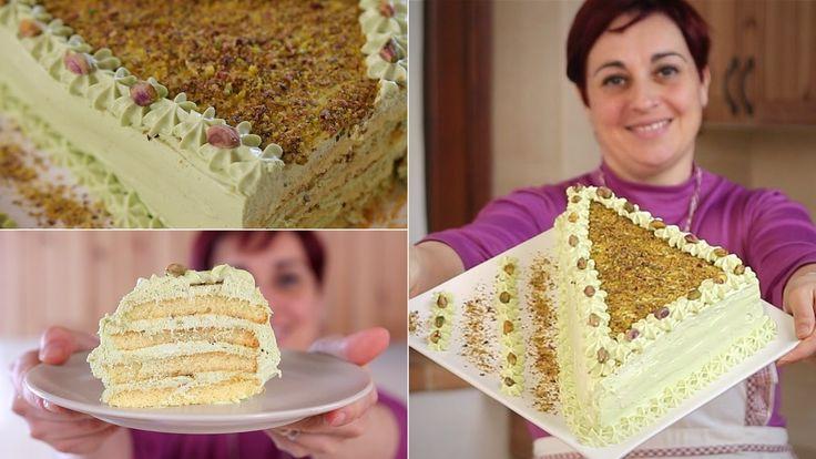 TORTA FURBA AL PISTACCHIO Ricetta facile - Pistachio Cake  Easy Recipe
