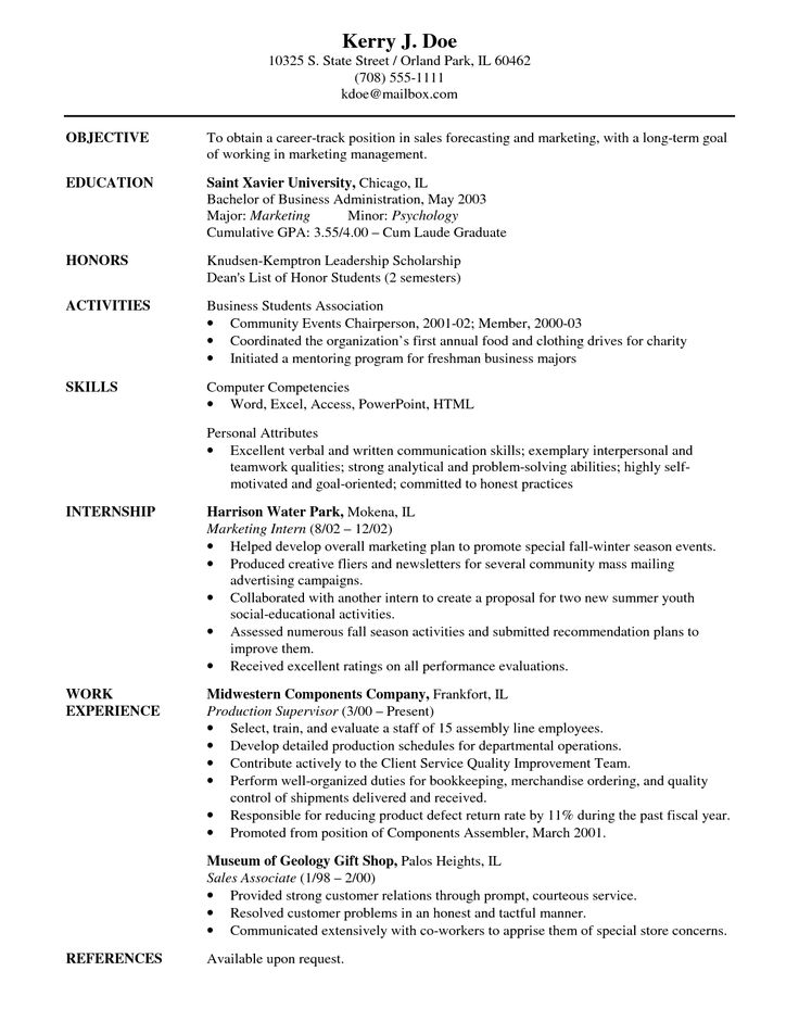 Más de 25 ideas increíbles sobre Resume career objective en - how to write a combination resume