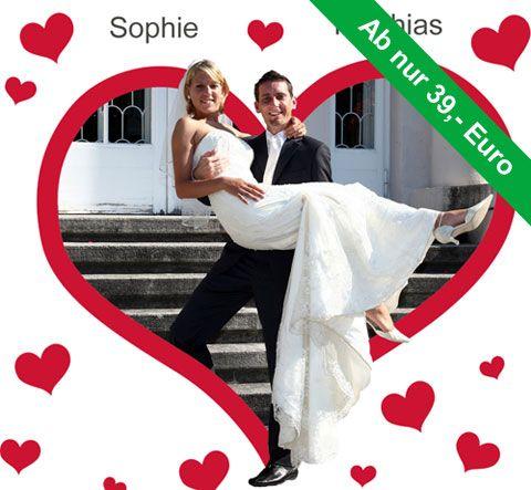 Das Hochzeitsherz zum Ausschneiden. Ein Klassiker und Hochzeitsbrauch für schöne Fotomotive.