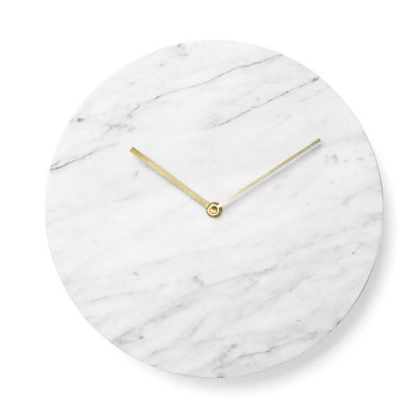 "Norm Architects from Denmark have designed a wall clock with clean lines stripped of all unnecessary details. The minimalistic Marble Wall Clock's reminiscent design allows you to read the hour and minutes of time in timeless fashion. ""With smartphones replacing traditional clocks in the society we'd like to see a renaissance of the classic wall clock, an object not only beautiful, but also highly distinguished. The Marble Wall Clock breathes nostalgia and we've chosen a mate..."