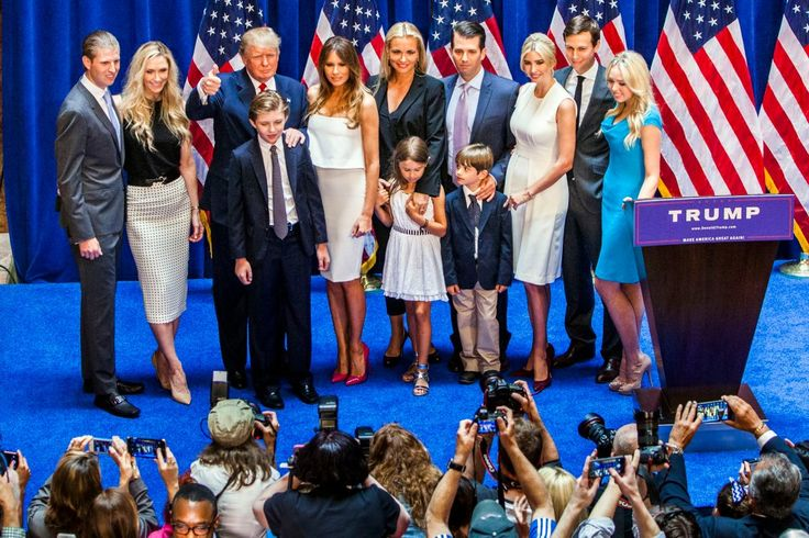 Trump Children    Billionaire businessman Donald Trump is our current president, and Donald has five children with three different women. With his first wife Ivana Trump, Donald had Donald Jr., Ivanka, and Eric.Donald Jr. has five children of his own, Ivanka has three, and Eric and his wife have yet to have any kids. Donald has said that his kids will be running his businesses for him while he's President.
