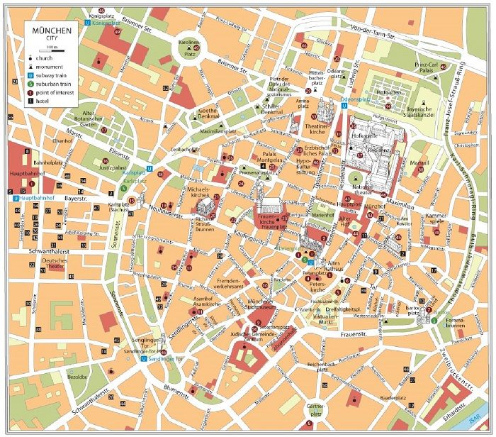 Munich Attractions Map PDF - FREE Printable Tourist Map ...