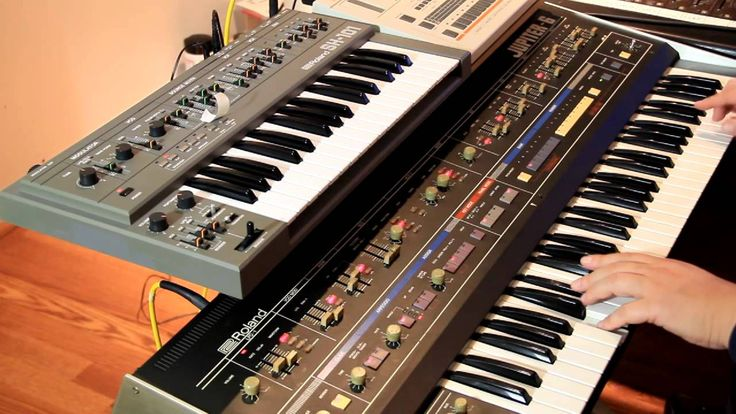 Italo with Jupiter-6, TR-707, and SH-101