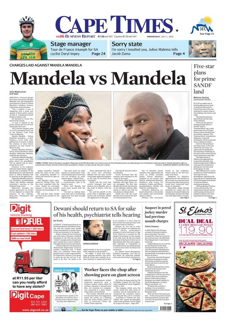 News making headlines: Mandela VS Mandela