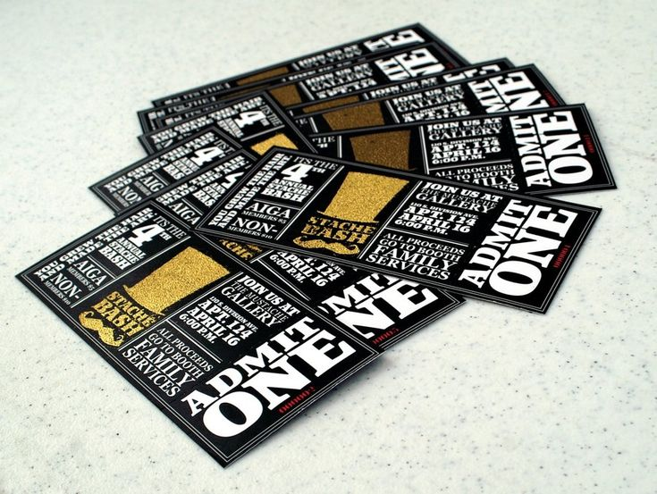 Excellent Ticket Design | Stach Bash!  How To Design A Ticket For An Event