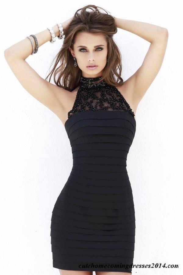 Bead Halter Short Tight Homecoming Dress Sherri Hill 32055