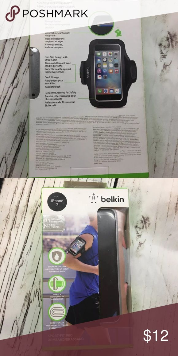 Belkin pink iPhone 7 armband running workout New In Box belkin Accessories Phone Cases