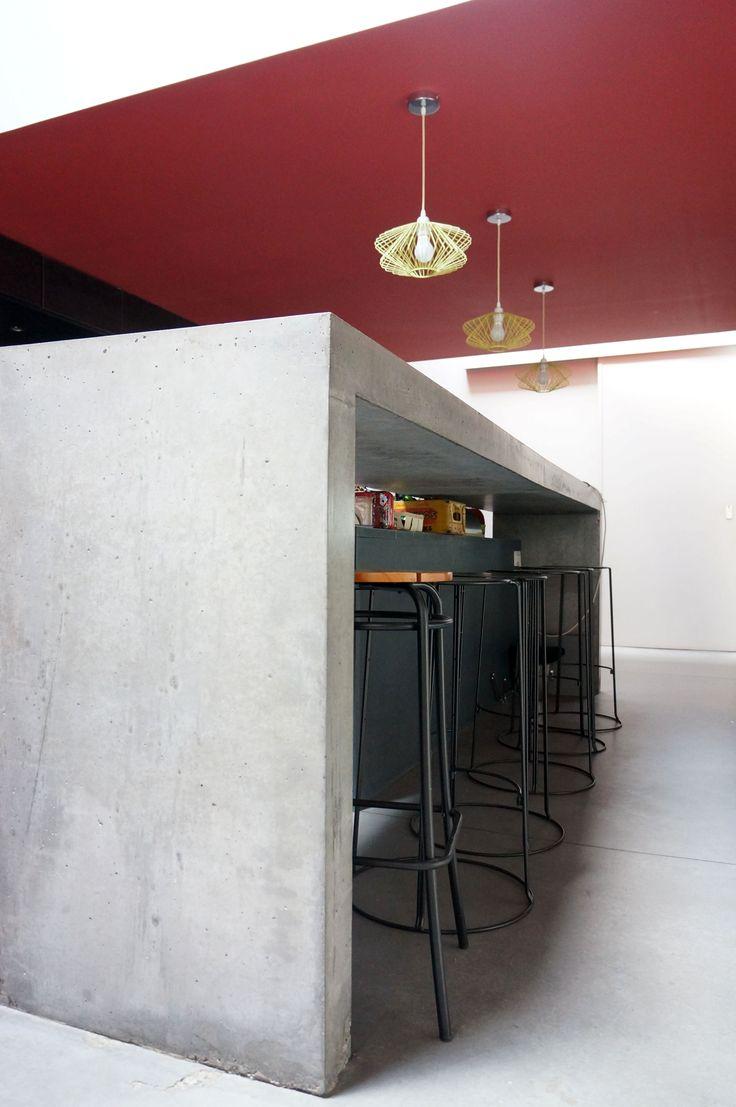 #studiofanchon #loft #lille #farrow&ball #blazer #bar #concrete #beton