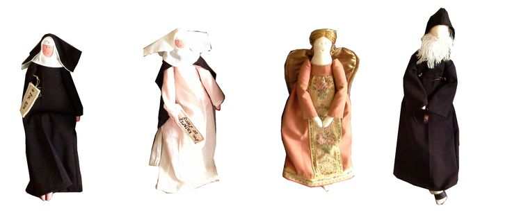 Saint Catherine of Siena, Angel Guard, saint Charbel & Rita / www.dayenu.pl