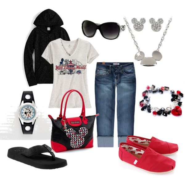 Disney World outfit ....except the Toms, don't like Toms, or the necklace - going too far for me.