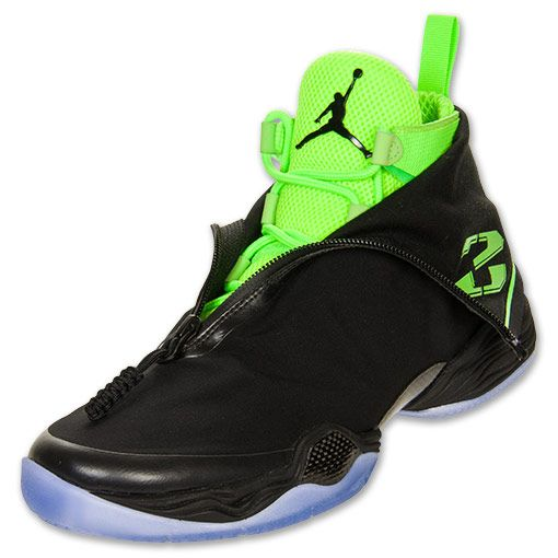 NIKE Men's Air Jordan XX8 Basketball Shoes, Black/Electric Green - 11.5
