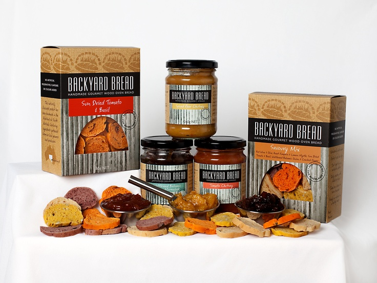 A small sample of our products. Condiments and Bread Bites - gourmet flavoured wood oven bread gently sliced into bite sized pieces and baked until crunchy.