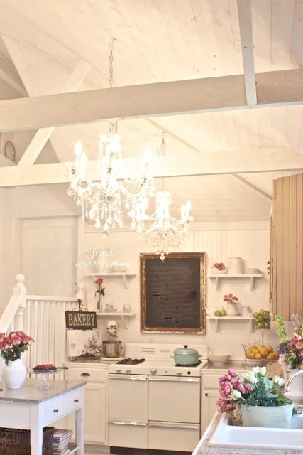 FRENCH COUNTRY COTTAGE: Building a Vintage Inspired Farmhouse Kitchen - Love Courtney's kitchen soooo much!