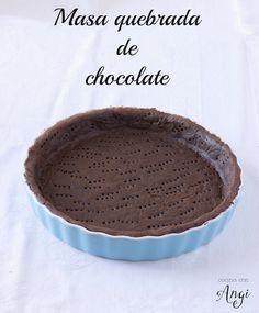 La receta, paso a paso, para hacer masa quebrada de chocolate. Â¡Perfecta para…