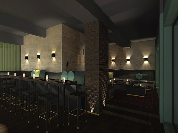 Study of a bar lounge in karlsruhe germany 2013 for Design hotel karlsruhe