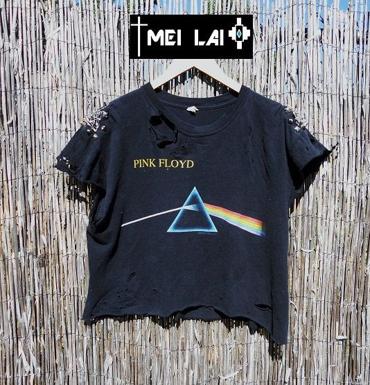 Pink Floyed spiked and distressed tee by MeiLai on Etsy