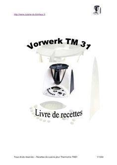 page 1 à 415 du livre pour le robot culinaire Vorwerk Thermomix
