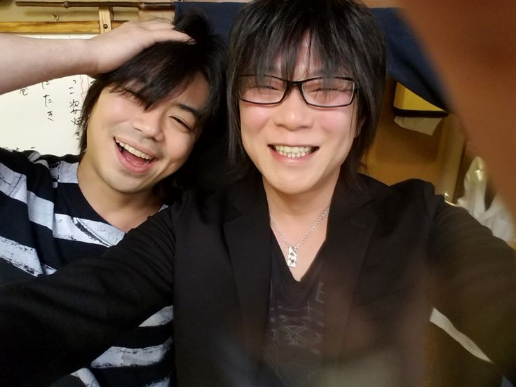 Namikawa Daisuke and Tomoyuki Morikawa ♪  Two people after a long time ♪     They are both drinking nice ♪     ... No, it is not now (laugh). April 27, 2017