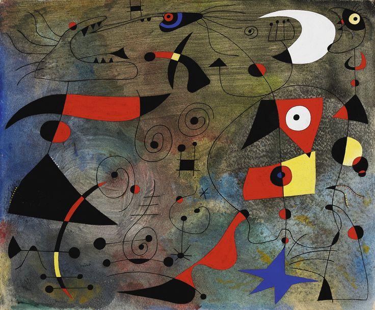 Femme et Oiseaux,1940. Joan Miró