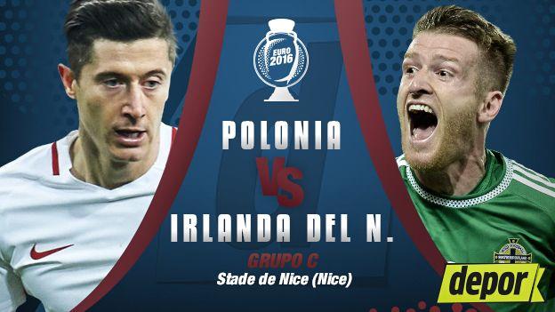 Polonia vs. Irlanda del Norte se enfrentan por Eurocopa Francia 2016