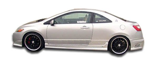 2006-2011 Honda Civic 2DR Duraflex Raven Side Skirts Rocker Panels - 2 Piece