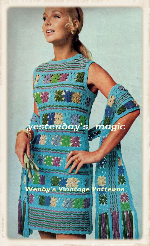 Instant Download PDF  Vintage 1960's Crochet by YesterdaysMagic, $3.50