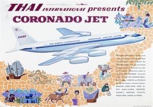 Thai International Convair Jet, c. #1960s. #ThaiCoronado