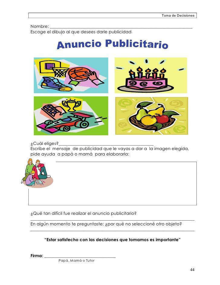 Resultado De Imagen Para Ejercicios De Anuncios Publicitarios Para Ninos Anuncios Publicitarios Para Ninos Anuncios Publicitarios Actividades Para Primaria