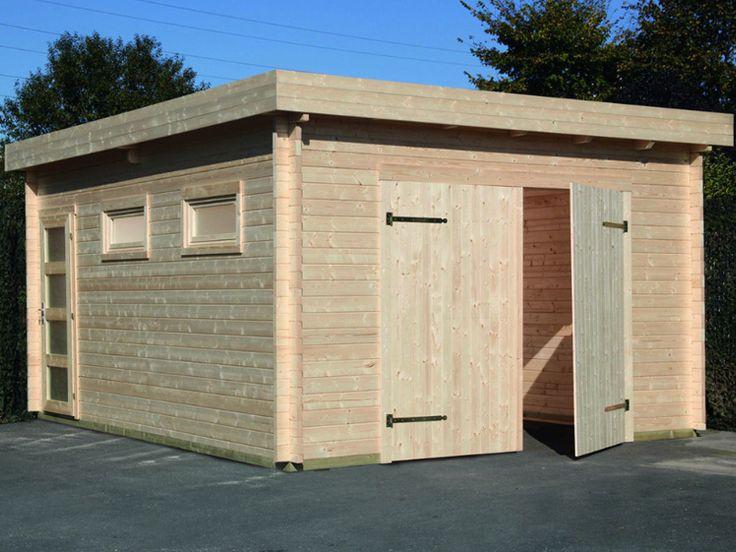 Garage modern holz  Die besten 25+ Holzgarage Ideen auf Pinterest, die dir gefallen ...