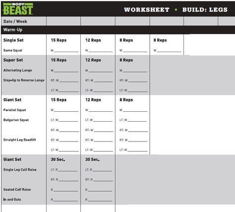 11 mejores imágenes de Mefib en Pinterest Barra del - beast workout sheet