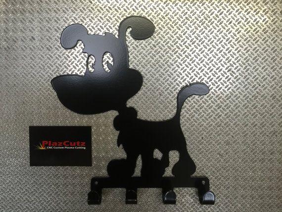 Cartoon Dog Lead Leash Key Rack CNC Plasma cut and by PlazCutz