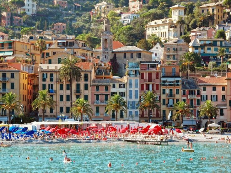 Santa Margherita Ligure beach, Italy