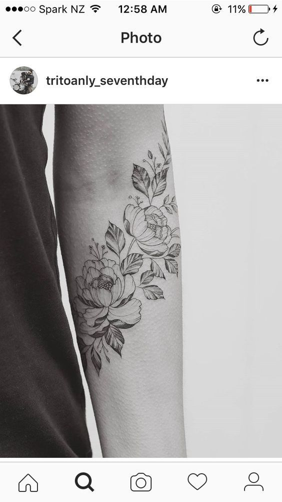 Floral forearm sleeve // flower for each member of my family