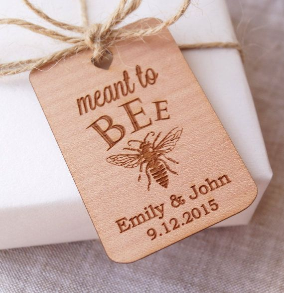 Meant to Bee wedding favor tags honey favor tags wedding