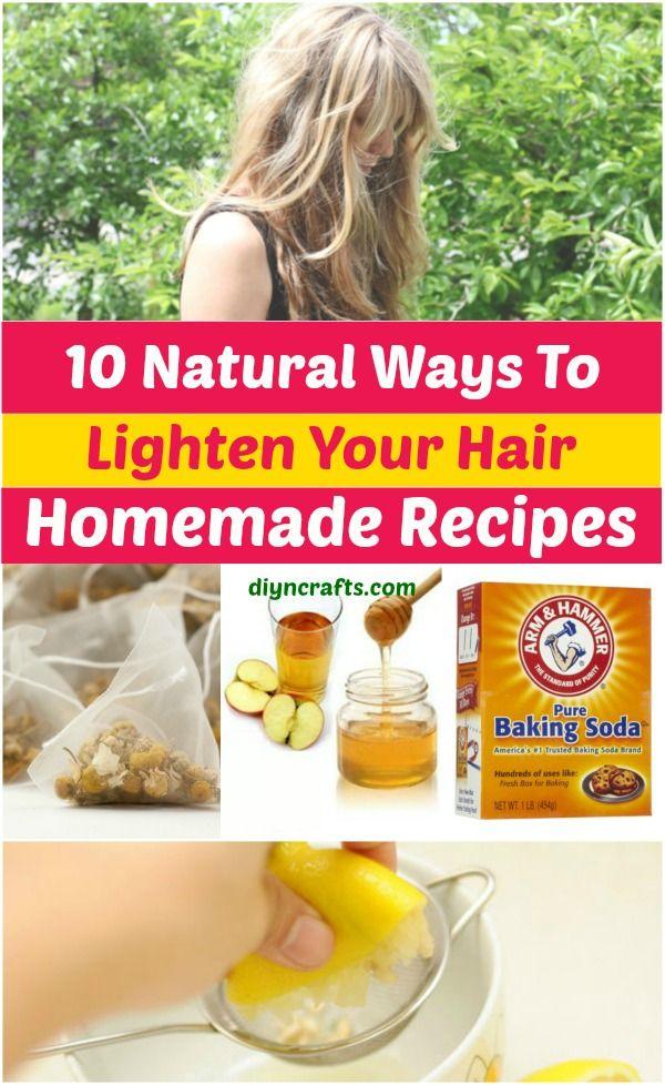 10 Ways to Lighten your Hair Naturally {Homemade Recipes}