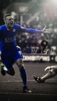 Jamie Vardy Leicester City Lockscreen Wallpaper by adi-149